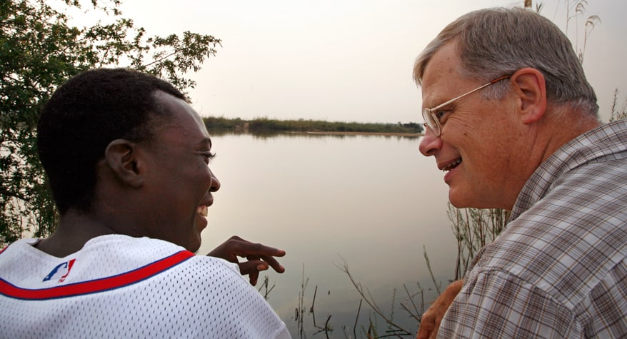 Br. Mark Gruenke, M.M. with a friend (Namibia)