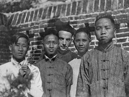 Bishop Ford with children in China