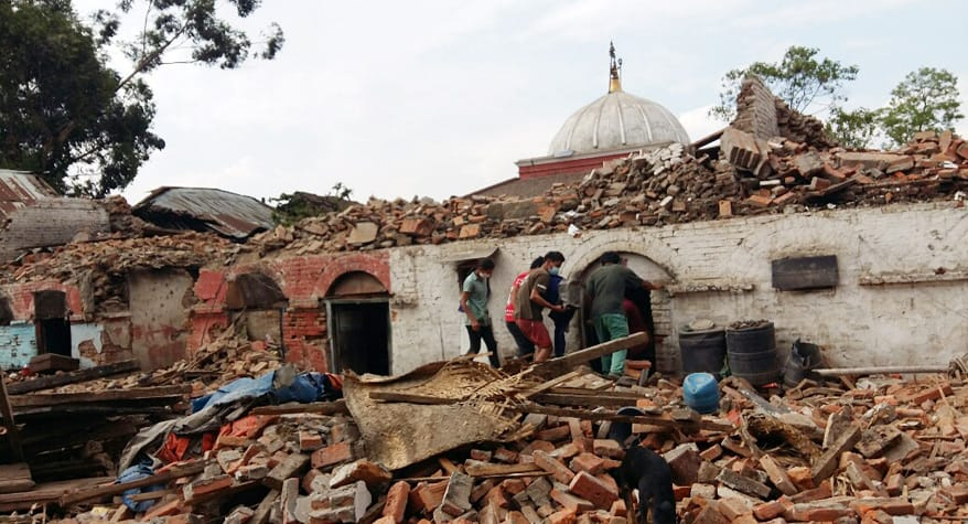 Aftermath of Earthquake (Nepal)