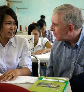 Father Thomas O'Brien M.M. at Hai Hau Skills Training Center (Vietnam)