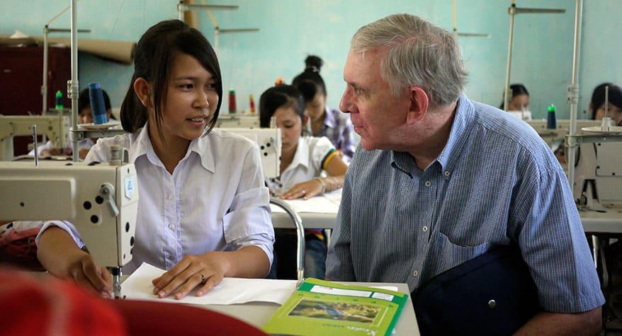 Father Thomas O'Brien M.M. at Hai Hau Skills Training Center (Vietnam)
