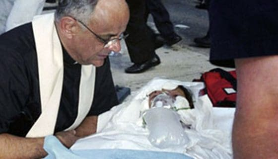 Father Raymond Nobiletti, M.M. during the 9-11 WTC attacks