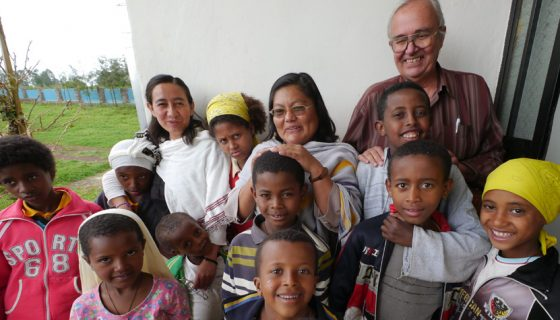 Father Richard Baker, M.M. in Ethiopia