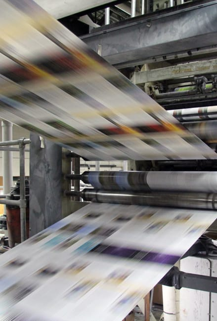 Maryknoll Print Shop using recycled products