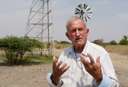 Fr. Daniel Ohmann, M.M. explaining the windmills concept