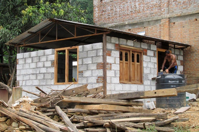 House close to completion (Nepal)