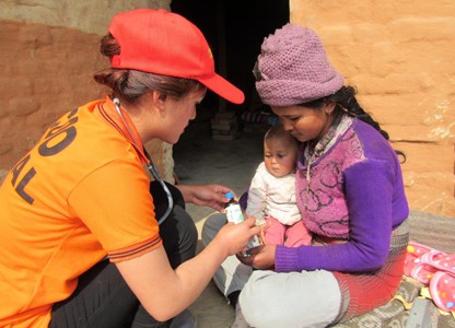 Kabita and baby receive medical care (Nepal)