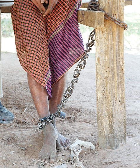 Th mentally ill in Cambodia are Chained at their homes