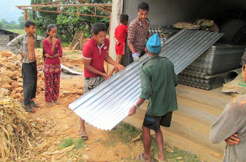 Moving construction materials (Nepal)