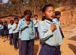 School children in Nepal.