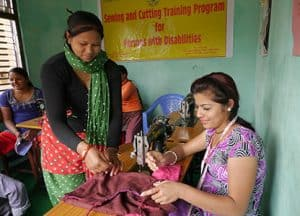 School for Sewing Training re-opened.