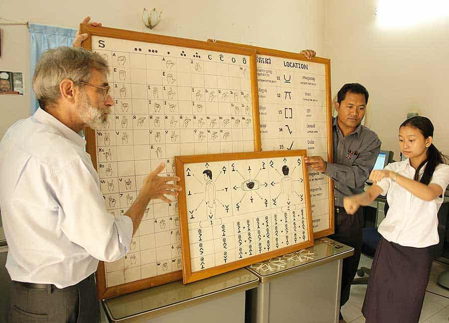 Teaching the Deaf in Cambodia