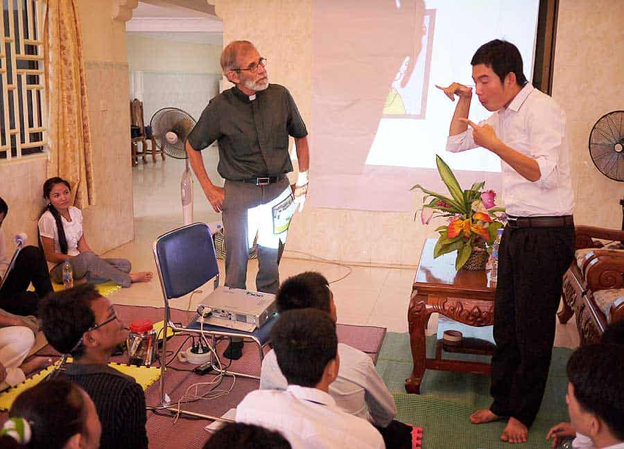 Training the Deaf in Cambodia