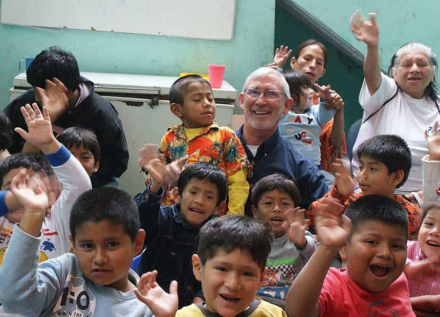 Feeding hungry children in Peru